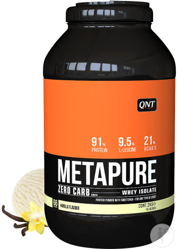 QNT Metapure Zero Carb Whey Isolate Milch/Vanille-Geschmack Pulver Dose 2kg