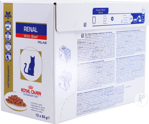 Royal Canin Veterinary Diet Katze Renal Support Beef Feuchtnahrung 12x85g
