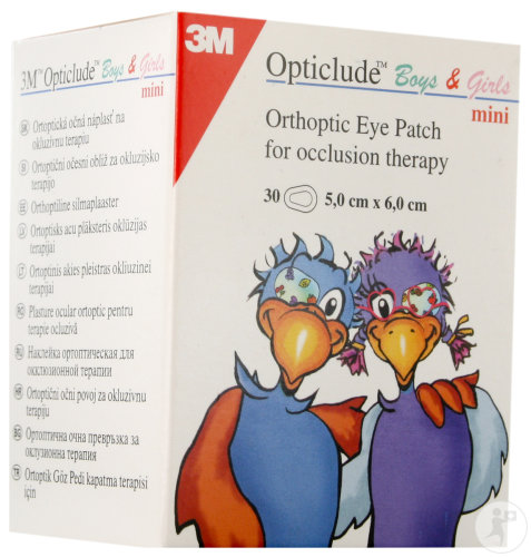 3M Opticlude Boys&Girls Mini Pansement Oculaire 30 Pièces (2537PE)