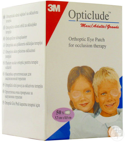 3M Opticlude Compresses Oculaires Standards Maxi 82x57mm Pièces 50 (1539)