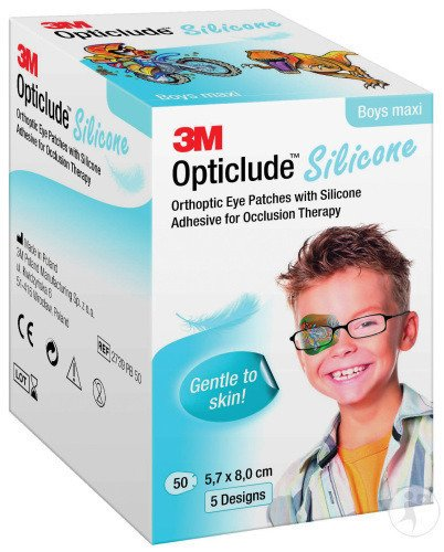 3M Opticlude Silicone Pansements Orthoptiques Boy Maxi 50 Pièces