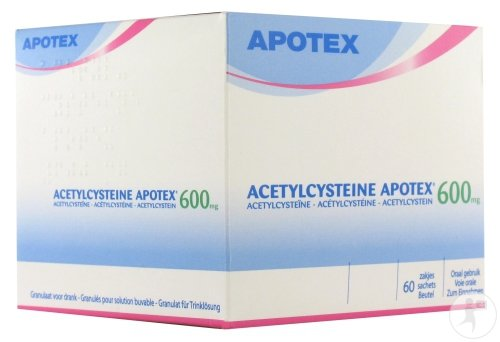 Acetylcysteine Apotex 60 Sachets 600 Mg