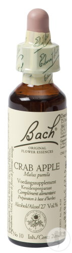 Bach Flower Remedie 10 Crab Apple (Pomme Sauvage) 20ml