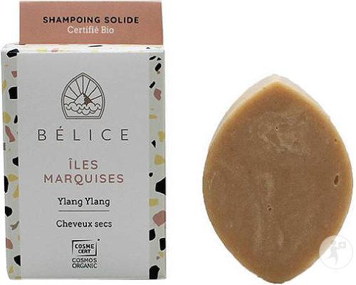 Bélice Îles Marquises Shampoing Solide Cheveux Secs Ylang Ylang Bio 85g