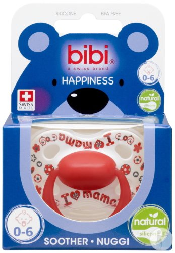 Bibi Sucette Happiness Natural I Love Mama/Papa Is The Best 0-6 Mois 1 Pièce