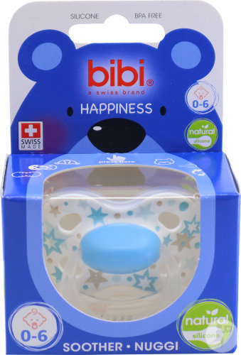 Bibi Sucette Happiness Natural Silicone 0-6 Mois Pièce 1