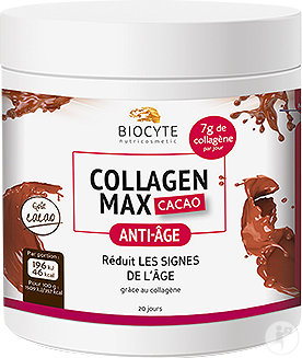 Biocyte Collagen Max Anti-Âge Goût Cacao Doses 20x13g