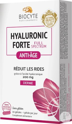Biocyte Nutricosmetic Hyaluronic Forte Full Spectrum Anti-Âge 30 Gélules