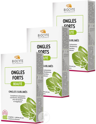 Biocyte Nutricosmetic Ongles Forts 40 Gélules 2+1 Gratuit