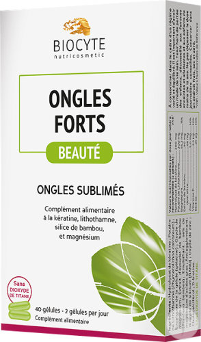 Biocyte Nutricosmetic Ongles Forts 40 Gélules
