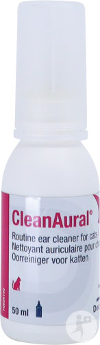 CleanAural Nettoyant Auriculaire Chats Flacon 50ml