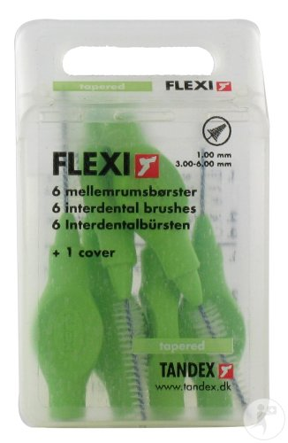 Deprophar Flexi Brossette Interdentaire Tapered Green 6 Pièces