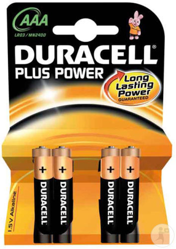 Duracell Plus Power AAA Piles Alcalines 4 Pièces