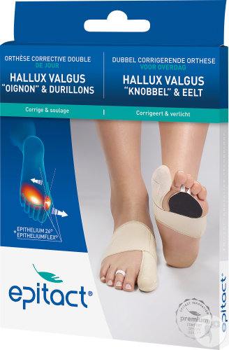 Epitact Orthèse Corrective Hallux Valgus Double Protect Gauche Taille S 1 Pièce