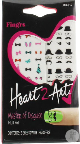 Fing-Rs Heart 2 Art Master Of Disguise Nail Art 1 Boîte