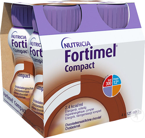 Fortimel Compact Chocolat Bouteilles 4x125ml