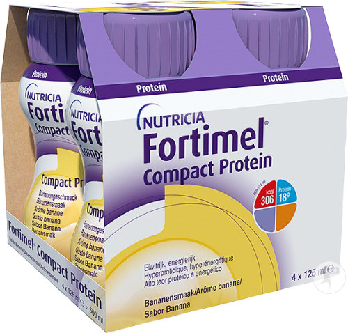 Fortimel Compact Protein Banane Bouteilles 4x125ml