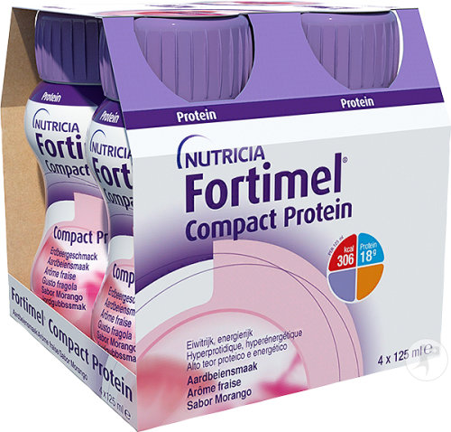 Fortimel Compact Protein Fraise Bouteilles 4x125ml