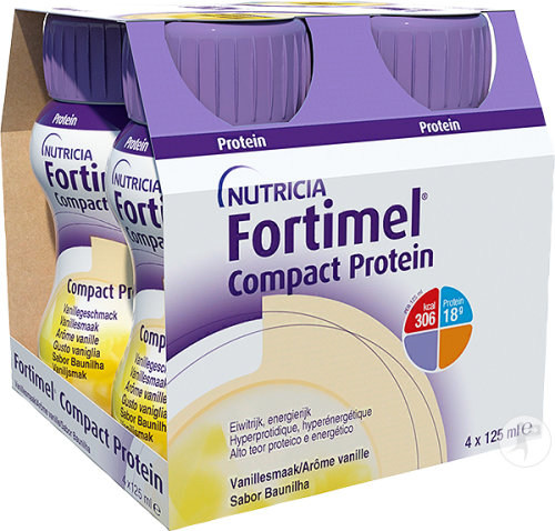 Fortimel Compact Protein Vanille Bouteilles 4x125ml