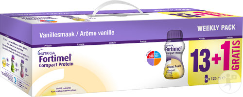 Fortimel Compact Protein Weekly Pack Vanille 13x125ml + 1 Gratuit Promo