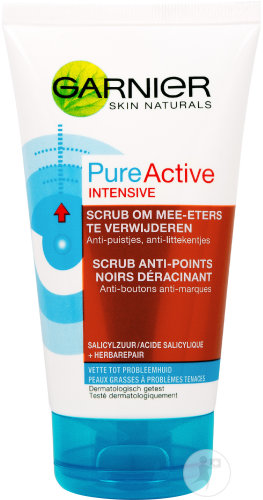 Garnier Skinactive Pure Active Intensive Scrub Anti-Points Noirs Déracinant Tube 150ml