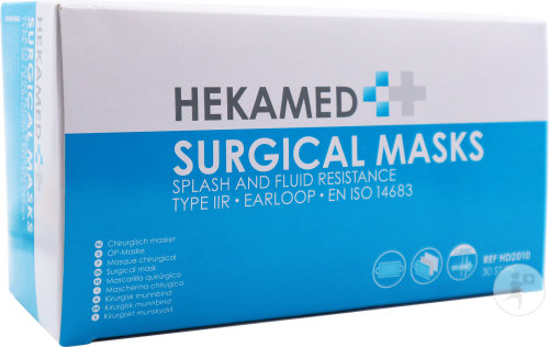 Hekamed Masque Chirurgical Type IIR 3 Couches 30 Pièces