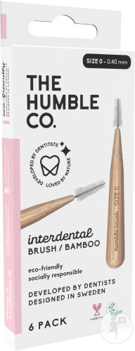 Humble Brosse Interdentaire Size 0/0.4 Rose 6 Pièces