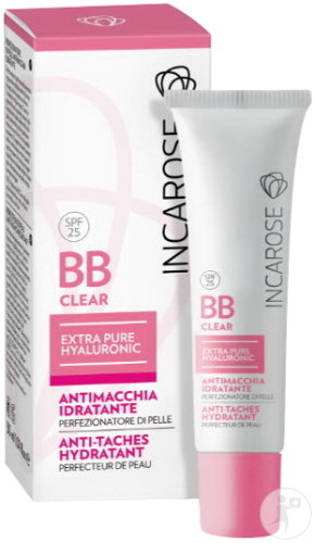 Incarose BB Clear IP25 Extra Pure Hyaluronic Anti-Taches Hydratant Light Tube 30ml