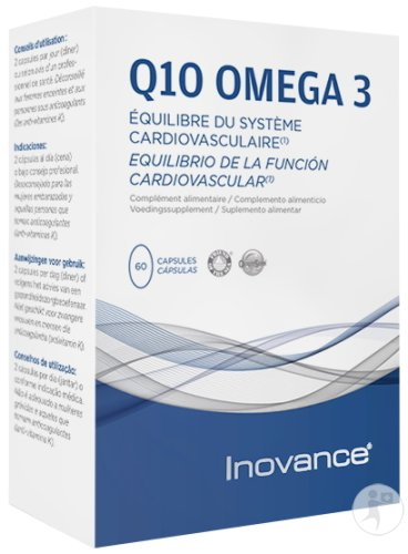 Inovance Q10 Omega 3 Système Cardiovasculaire 60 Capsules