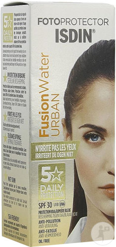 Isdin Fotoprotector FusionWater Urban IP30 Protection En Phase Aqueuse Environnements Urbains 50ml