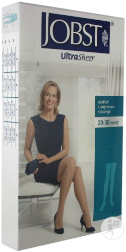 Jobst UltraSheer Confort C2 Bas Cuisse Natural Small 1 Paire
