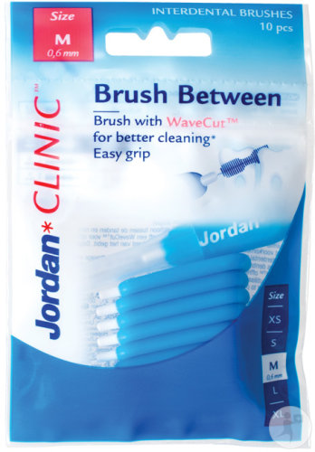 Jordan Clinic Brush Between Brossettes Interdentaires Taille M 10 Pièces