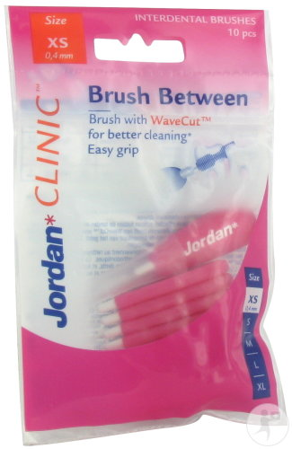 Jordan Clinic Brush Between Brossettes Interdentaires Taille XS 10 Pièces