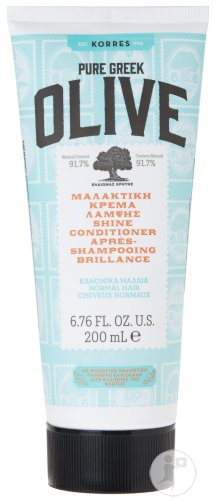 Korres KH Pure Greek Olive Après-Shampoing Brillance Cheveux Normaux Tube 200ml
