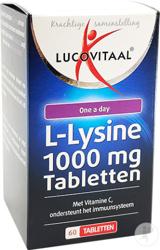 Lucovitaal L-Lysine 1000mg One A Day 60 Comprimés