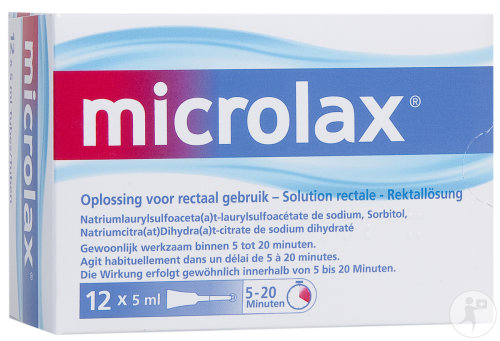 Microlax Solution Rectale Tubes Avec Canule 12x5ml