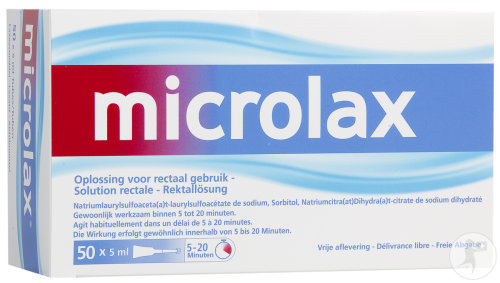 Microlax Solution Rectale Tubes Avec Canule 50x5ml