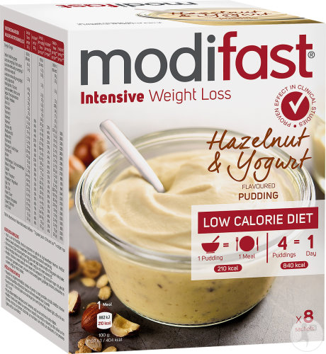 Modifast Intensive Weight Loss Pudding Saveur Yaourt Et Noisettes 8x52g