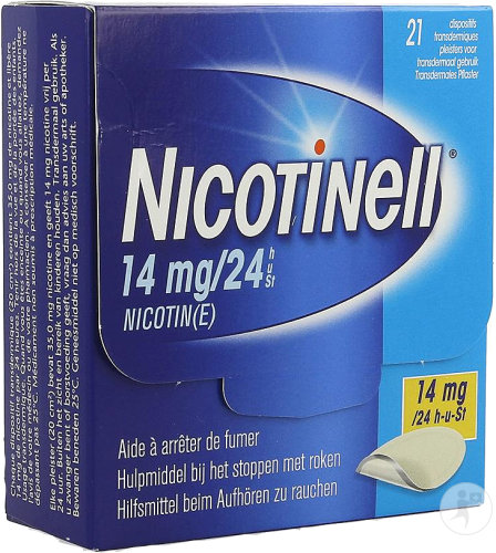 Nicotinell 14mg/24h Dispositif Transdermique 21 Patchs