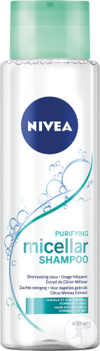 Nivea Purifying Micellar Shampoing Doux Purifiant Cheveux Normaux À Gras 400ml