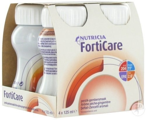 Nutricia FortiCare Pêche-Gingembre 4x125ml