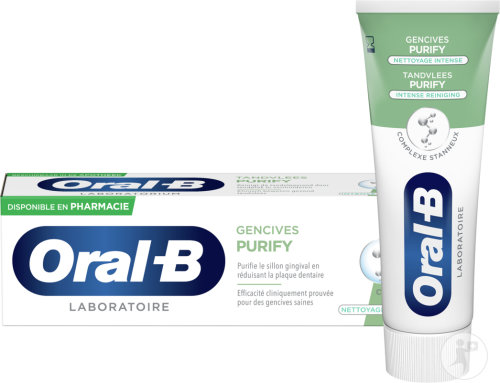 Oral-B Gencives Purify Nettoyage Intense Dentifrice Complexe Stanneux 75ml