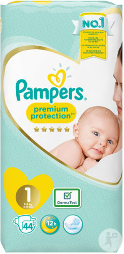 Pampers Premium Protection Taille 1 New Born 2-5kg Couches 44