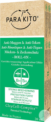 Para'Kito Roll-On Anti-Moustiques & Anti-Tiques Protection Forte 20ml