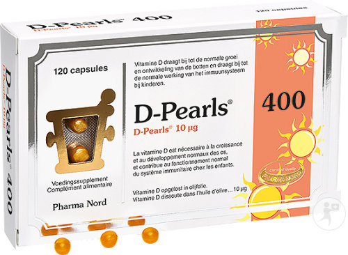 Pharma Nord D-Pearls 400 Complément Alimentaire 120 Capsules