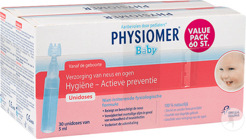 Physiomer Baby Hygiène Nasale Et Oculaire Unidoses 60x5ml