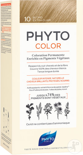 Phyto Phytocolor Coloration Permanente 10 Blond Extra Clair 1 Kit