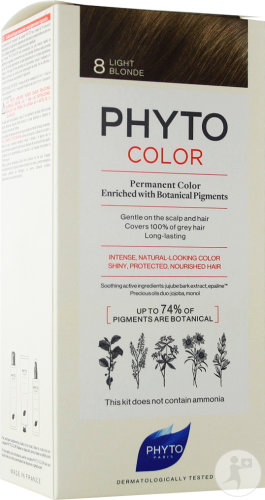 Phyto Phytocolor Coloration Permanente 8 Blond Clair 1 Kit