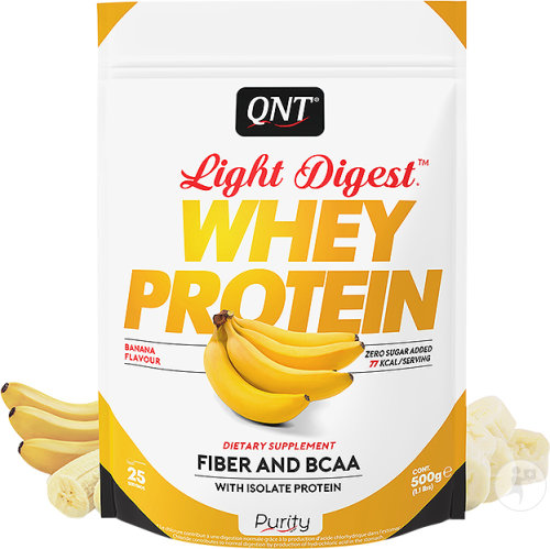 QNT Purity Light Digest Whey Protein Banane 500g