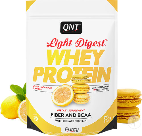 QNT Purity Light Digest Whey Protein Citron Macaron 500g